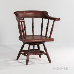 Paint-decorated Swivel-base Windsor Chair