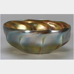 Tiffany Gold Favrile Glass Bowl