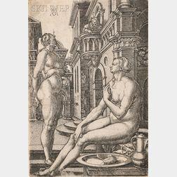 Heinrich Aldegrever (German, 1502-c. 1561)      Bathsheba at the Bath
