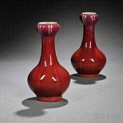 Pair of Flambe Vases