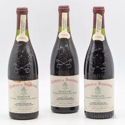 Chateau Beaucastel Chateauneuf du Pape 1988, 3 bottles