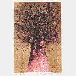 Joichi Hoshi (1913-1979), High Treetop (Red)