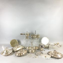 Group of Silver-plated Hollowware