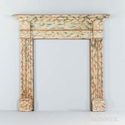 Paint-decorated Mantelpiece or Fireplace Surround