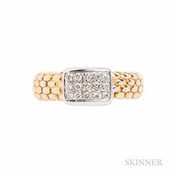 18kt Gold and Diamond Ring, Fope