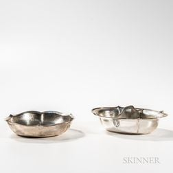 Two Hammered Sterling Silver Serving Pieces