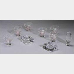 Eight Pieces of Kosta Boda Colorless Art Glass