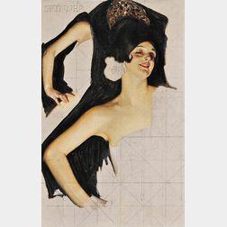 Attributed to Joseph Christian Leyendecker (American, 1874-1951)      Portrait Studies of a Spanish Dancer