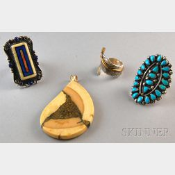 Four Pieces of Native American Jewelry