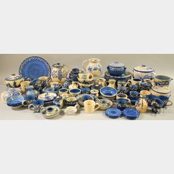 Very Large Group of Assorted Blue and White Dorchester Pottery Tableware