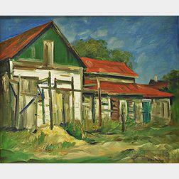 "Daisy Marguerite Hughes (American, 1882-1968)      ""John King's Wreck of a Barn,"" Provincetown, Mass"