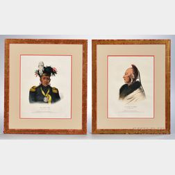 Two Framed Color Lithographs of Prairie Chiefs