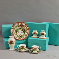 Eleven Pieces of Tiffany & Co. Holiday Porcelain