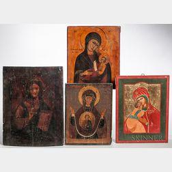 Four Orthodox Icons