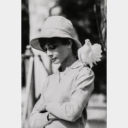 Terry O'Neill (British, b. 1938)      Audrey Hepburn with Dove, St. Tropez