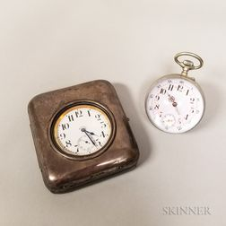 Swiss Paperweight Clock and a Swiss Eight-day Desk Clock
