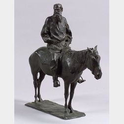 Paul Troubetzkoy (Russian/American, 1866-1938)    Tolstoy on Horseback