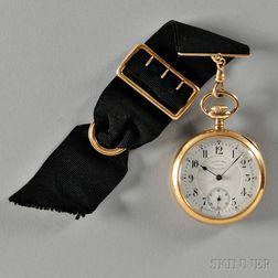 D. Gruen & Sons 14kt Gold Open-face Watch