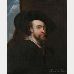 Continental School, 19th Century    Copy After a Self-Portrait by Sir Peter Paul Rubens (Flemish, 1577-1640)