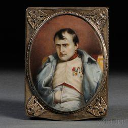 Austro-Hungarian .800 Gold-washed Silver Napoleonic Cigarette Case