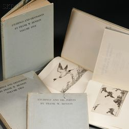 Five Volume Set:      Etchings and Drypoints by Frank W. Benson