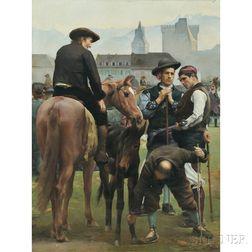 Joseph Auguste Rousselin (French, 19th Century)      La Foire de la St.-Martin à Pau