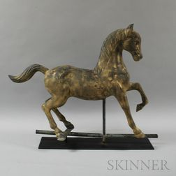 Gilt and Cast Zinc Horse Weathervane