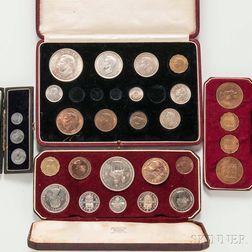 Four British Royal Mint Coin Sets