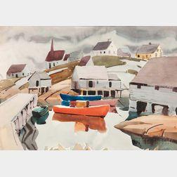 James Edward Fitzgerald (American, 1899-1971)      Peggy's Cove, Nova Scotia