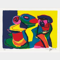 Karel Appel (Dutch, 1921-2006)    Untitled (Deux Personnages)