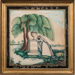 Watercolor Mourning Picture for Jabez Hatch Weld
