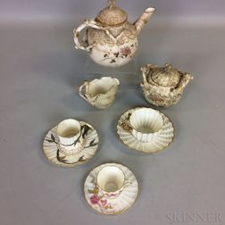 Nine Ott & Brewer Beleek Porcelain Teaware Items.     Estimate $400-600