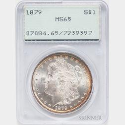 1879 Morgan Dollar, PCGS MS65