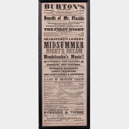 Playbills, Nine Examples.