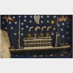 Mixed Media Folk Art Titanic Diorama