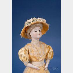 """Kestner Bisque Shoulder Head """"Gibson Girl"""" Character Doll"""