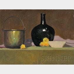 Robert Douglas Hunter (American, b. 1928)      Still Life with Vase.