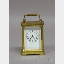 Brass and Glass Travel Clock by Waterbury Clock Company