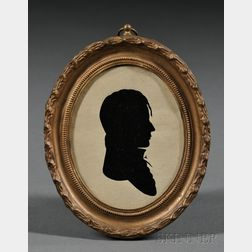 Framed Silhouette Portrait of a Young Man
