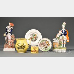 Six Assorted English Pottery Items