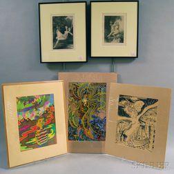 Five Works:      Henri Fantin-Latour (French, 1836-1904), Two Nudes: Sara la baigneuse