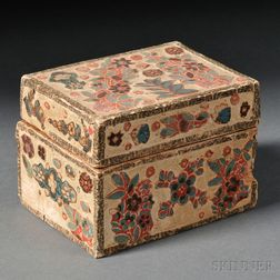 Floral Fabric Applique Covered Box