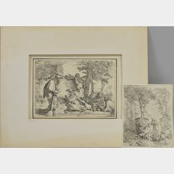 Giovanni Benedetto Castiglione (Italian, 1609-1664)      Two Etchings: Fête du Pan