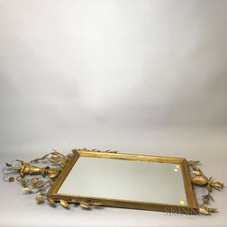 Pair of Neoclassical Carved and Gilt Mirrors