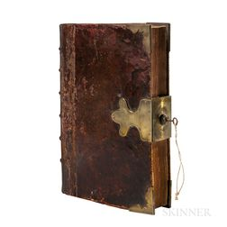 Hacket, John (1592-1670) A Century of Sermons  , Family Copy with a Brass Lock & Key.
