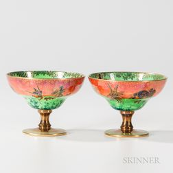 Two Wedgwood Fairyland Lustre Melba Cups