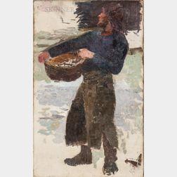 Eugène Laurent Vail (American/French, 1857-1934)      Fisherman Sketch