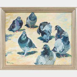 Rokhaya Waring (American, b. 1966)      Paris Pigeons
