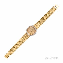 Omega Watch Co. Gold and Diamond Wristwatch