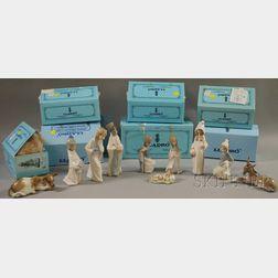 Lladro Porcelain Nativity Scene